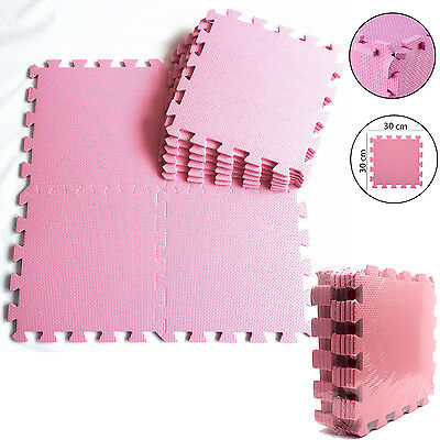 Soft Pink Eva Interlocking Flooring Activity Play Foam Mats Tiles Children Kids