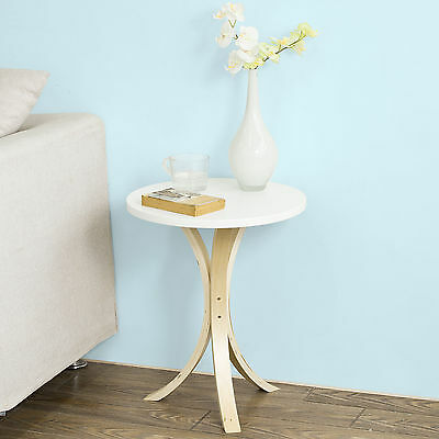 SoBuy® Round Wooden Side Table, Tea Coffee Table, Telephone Table, FBT29-W, UK