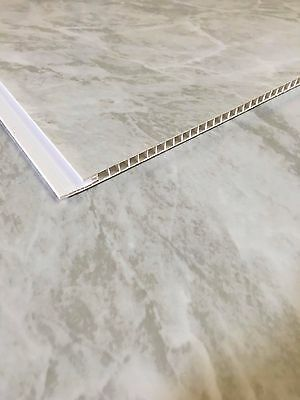 10 Grey Marble PVC Bathroom Cladding Plastic Shower Wet Wall Ceiling Panels