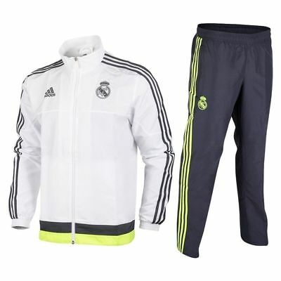 Real Madrid Tracksuit Adidas Boys Official Junior Soccer Jogsuit Training Suit