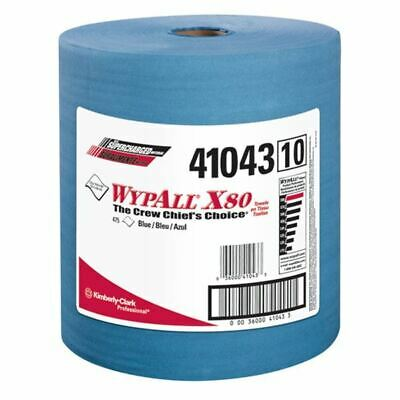"Wypall 41043 12.5"" x 13.4"" Blue X80 Jumbo Roll Wipers (475/Pack)"