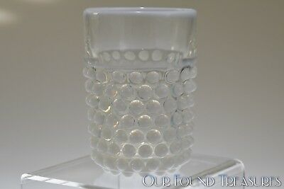"ca. 1885 N0. 150 HOBNAIL by Doyle Glass WHITE OPALESCENT 4"" Tumbler"
