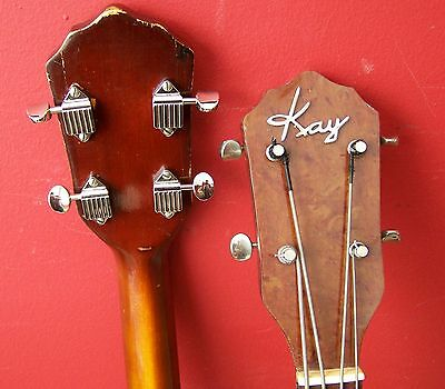 Kay Jimmy Reed Pro Bass Nickel Kluson Guitar Tuners