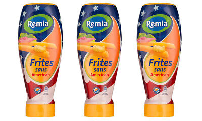 3 x Remia Frites Saus American 500ml Mayonaise Remoulade  (9,33 EUR pro l)