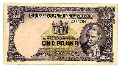 New Zealand  ... P-159a ... 1 Pound ... ND(1940-55) ... CHhoice F-XF*