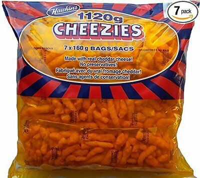 Hawkins Cheezies, 1120 Grams/39.5 Ounces - 7x160 gram Bags {Made in Canada}