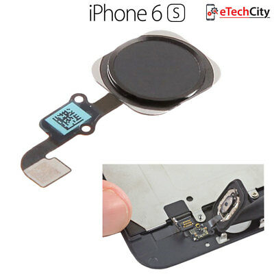iPhone 6s & Plus Touch Id Home Menu Finger Scan Button Main Replacement Black