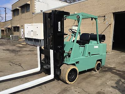 Clark 13,500 Pound Forklift With Cushion Tires  And Triple Mast