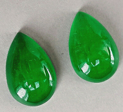 Natural imperial Jadeite Jade pair 7.95 and 7.96 cts  pear from Mondalay