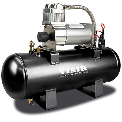 Viair 150 PSI 2-Gallon Tank 12V 280C Pewter Air Compressor Source Kit for Tires