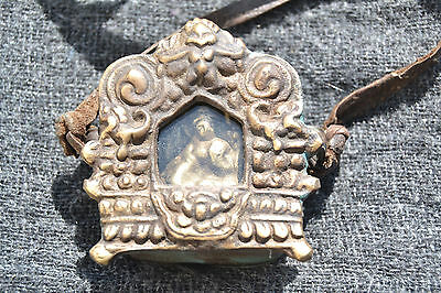 Tibetan Gao Buddhism Amulet Pendant armored Whit Blessings protection.Nepal
