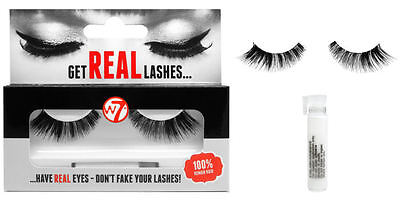 W7 Get Real Lashes HL04 - Human Hair Natural Makeup Glue Included