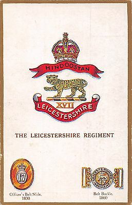 POSTCARD  MILITARY  The  Leicestershire  Regiment