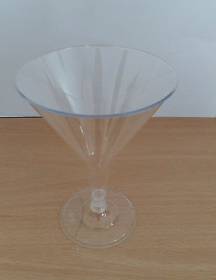 8 16 24 48 96 Plastic Martini Cocktail Glasses Disposable Party BBQ 200ml
