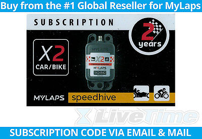 MyLaps X2 Subscription 2-year Renewal Card for Car/Bike Rechargeable Transponder