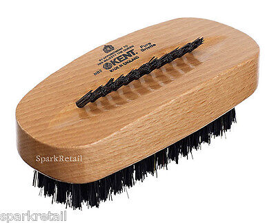 Kent Aqua Beechwood Luxurious Natural Black Bristle NAIL BRUSH NB2