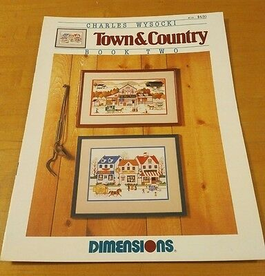 Charles Wysocki Town & Country Book Ii Dimensions Cross Stitch Chart, Oop