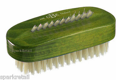 Kent Green Stained Wood Natural White Bristle Wooden NAIL BRUSH ART8S GREEN