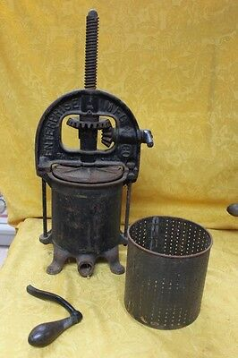 Vintage Enterprise Mfg Co. Sausage Stuffer / Fruit & Lard Press