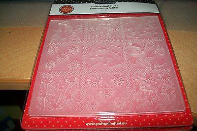 Embossing Folder Summer    5,11 X 5,11  Inch New New