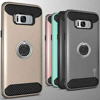 For Samsung Galaxy S8 Plus Hybrid Armor Protective Ring Phone Cover Hard Case