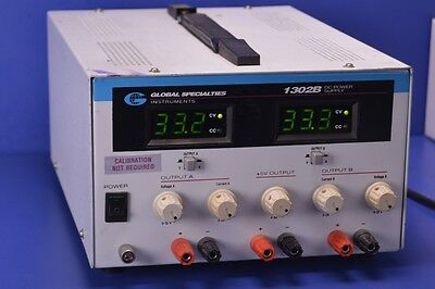 Global Specialties 1302B 3-Channel DC Power Supply +33 Vd.c.