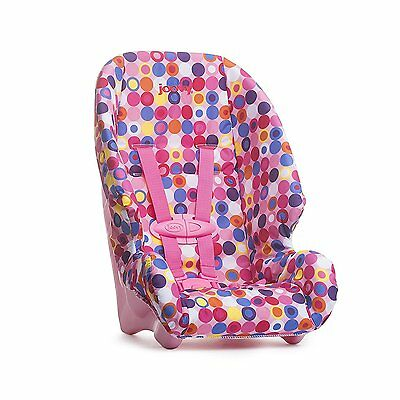 Joovy Doll Or Stuffed Toy BOOSTER SEAT, 20 Inch DOLL CAR SEAT, PINK Dot NEW