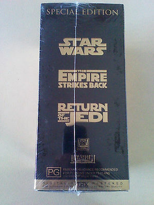 Vhs Rare Find (Star Wars Trilogy ) Gold Special Edition New And Sealed In Wrap