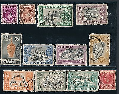 Nigeria (1914-1953) **12 DIFFERENT USED**; NO FAULTS; AS SHOWN