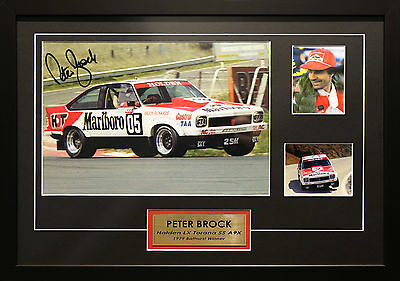 Peter Brock Holden A9X Ss Torana Signed Framed Bathurst Motor Racing Memorabilia
