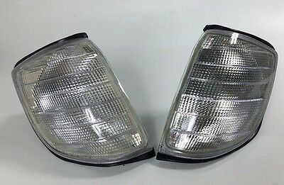 2x Front Turn Signal Corner Clear Light Lamp for Mercedes Benz S W140 91-98
