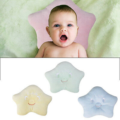 Soft Velvet Baby Pillow Infant Newborn Anti Flat Head Syndrome Crib Cot Bed New