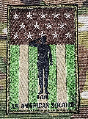 I Am A American Soldier Tactical Usa Army Military Multicam Combat Hook Patch
