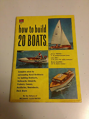 HOW TO BUILD 20 BOATS by EDITORS of MECHANIX ILLUSTRATED 1953