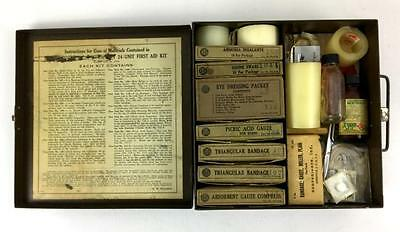 VINTAGE C.1930s Military FIRST AID KIT