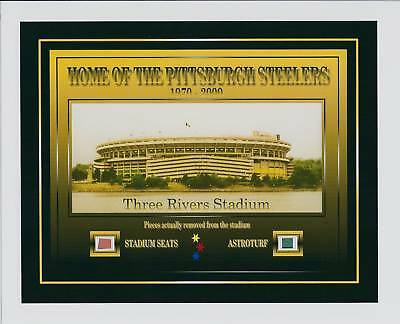 PITTSBURGH STEELERS 6 X Superbowl Champions Stadium relics pieces steel curtain