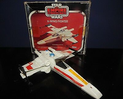 Vintage WORKING ESB X Wing Fighter all parts present & Box