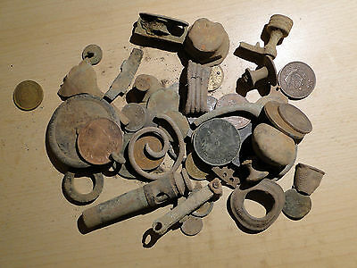 Large Mixed Job Lot of Metal Detecting Finds all unchecked found in Yorkshire
