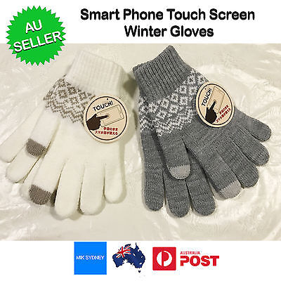 Adults Touch Screen Full Finger Winter Gloves Warm Soft High Quality iPhone