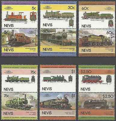 Timbres Trains Nevis 299/310 ** lot 19766