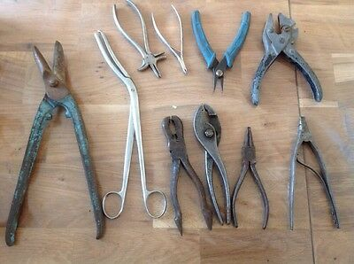 Clockmakers or Watch Makers Tools Cutters Grips Pliers Ex Spare Parts Chest