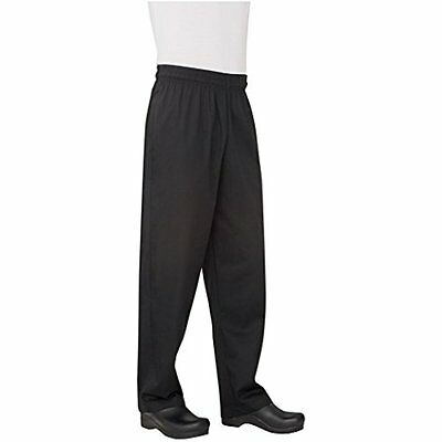 Men Essential Baggy Chef Pant Elastic Waist Front Back Pocket Polyester Cotton