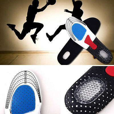 Footcare Shoe Inserts Cushion Massaging Insoles Sport Gel Arch Support Heel Spur