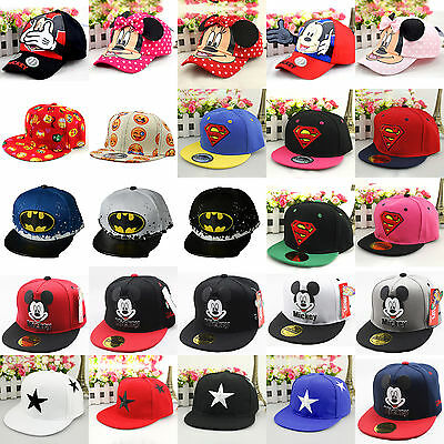 Baby Kids Child Superhero Hip Pop Baseball Cap Boys Girl Adjustable Snapback Hat