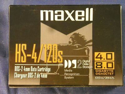 Maxell HS-4/120s DAT DDS-2 Data Tape Cartridge 4GB
