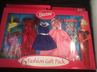 Mattel 68073b Barbie 6 Fashion Gift Pack Outfits! 6 Complete Outfits