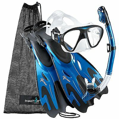 Phantom Aquatics Navigator Mask Fin Snorkel Set Medium/Large