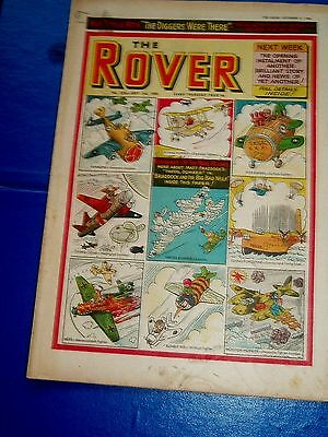 Nicknames Of The War Planes Cover   Rover Comic 1960