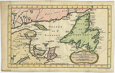 Antique Print-CANADA-NEWFOUNDLAND-ST. LAWRENCE BAY-Bellin-c. 1757