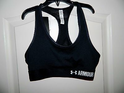Girl's Under Armour Black Athletic Sports Bra Size Medium or Large-NWT